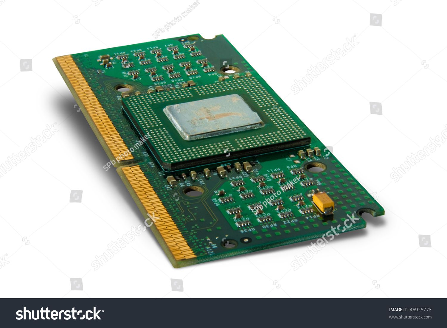 Photo Of Processor Memory Plate Ez Canvas Computer Ram Chips With Binary Code A Circuit Board
