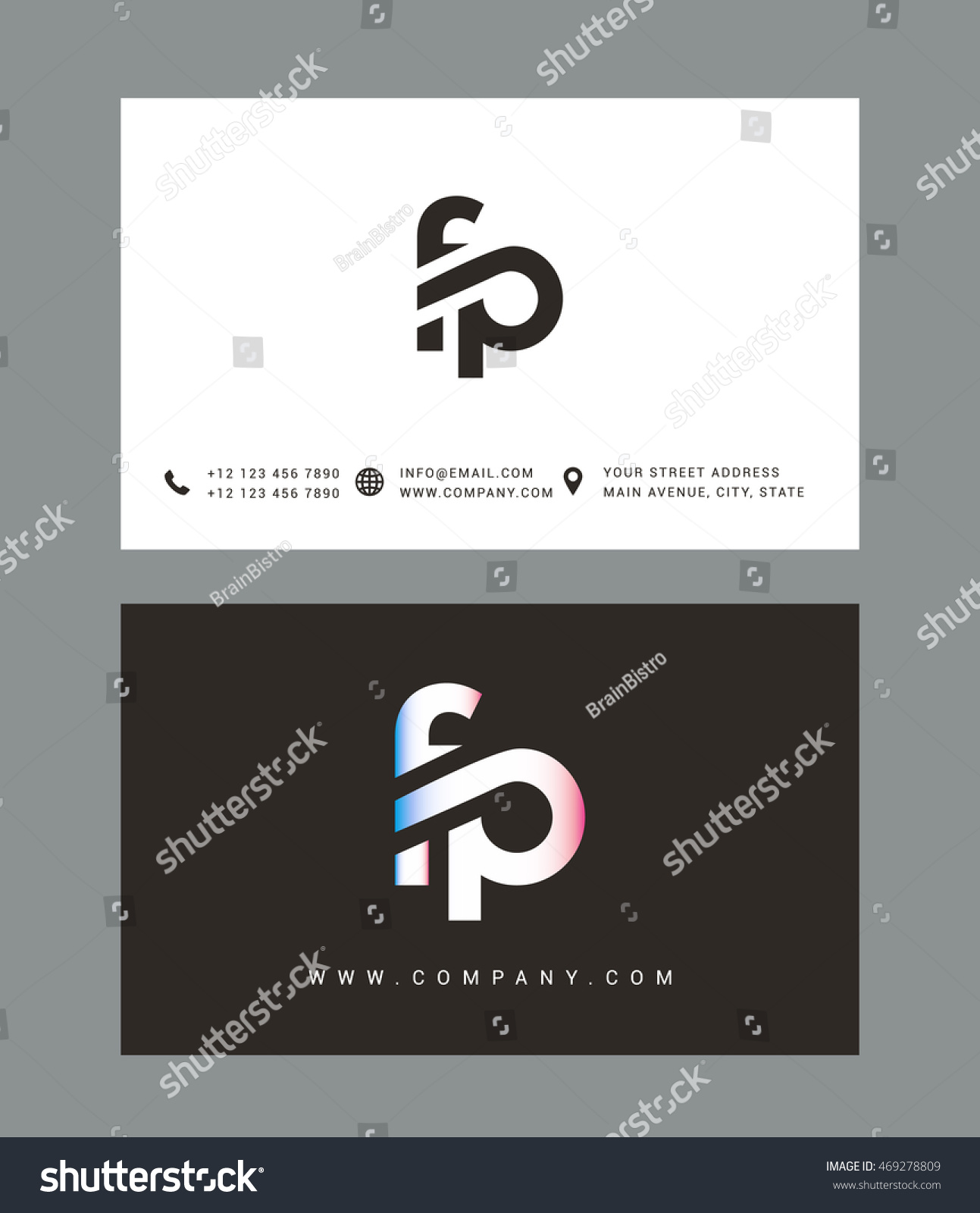 p and f on business cards best business 2017