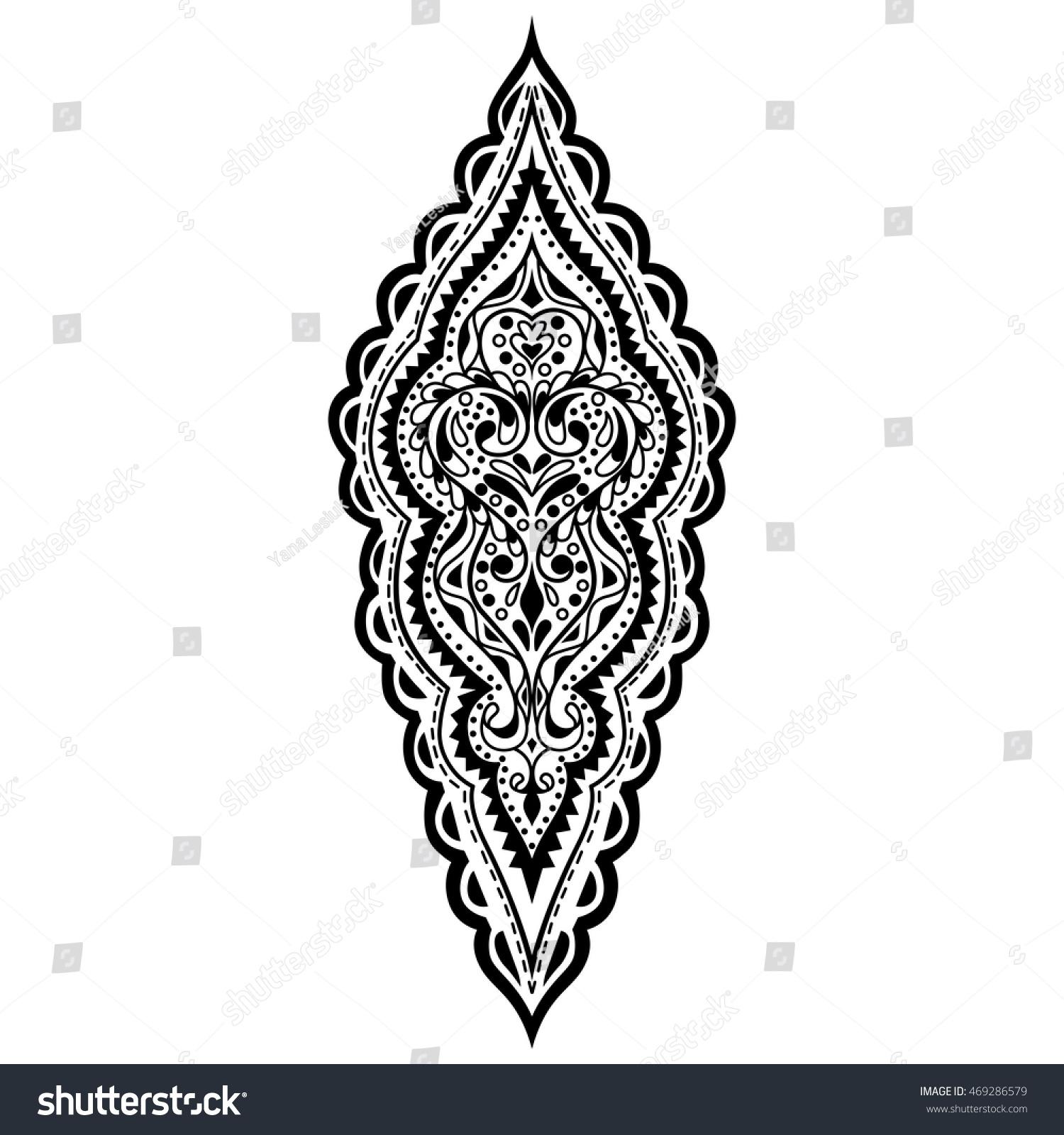 vector oriental pattern black white ornament stock vector hd rh shutterstock com Repeating Gold Pattern Repeating Background Patterns