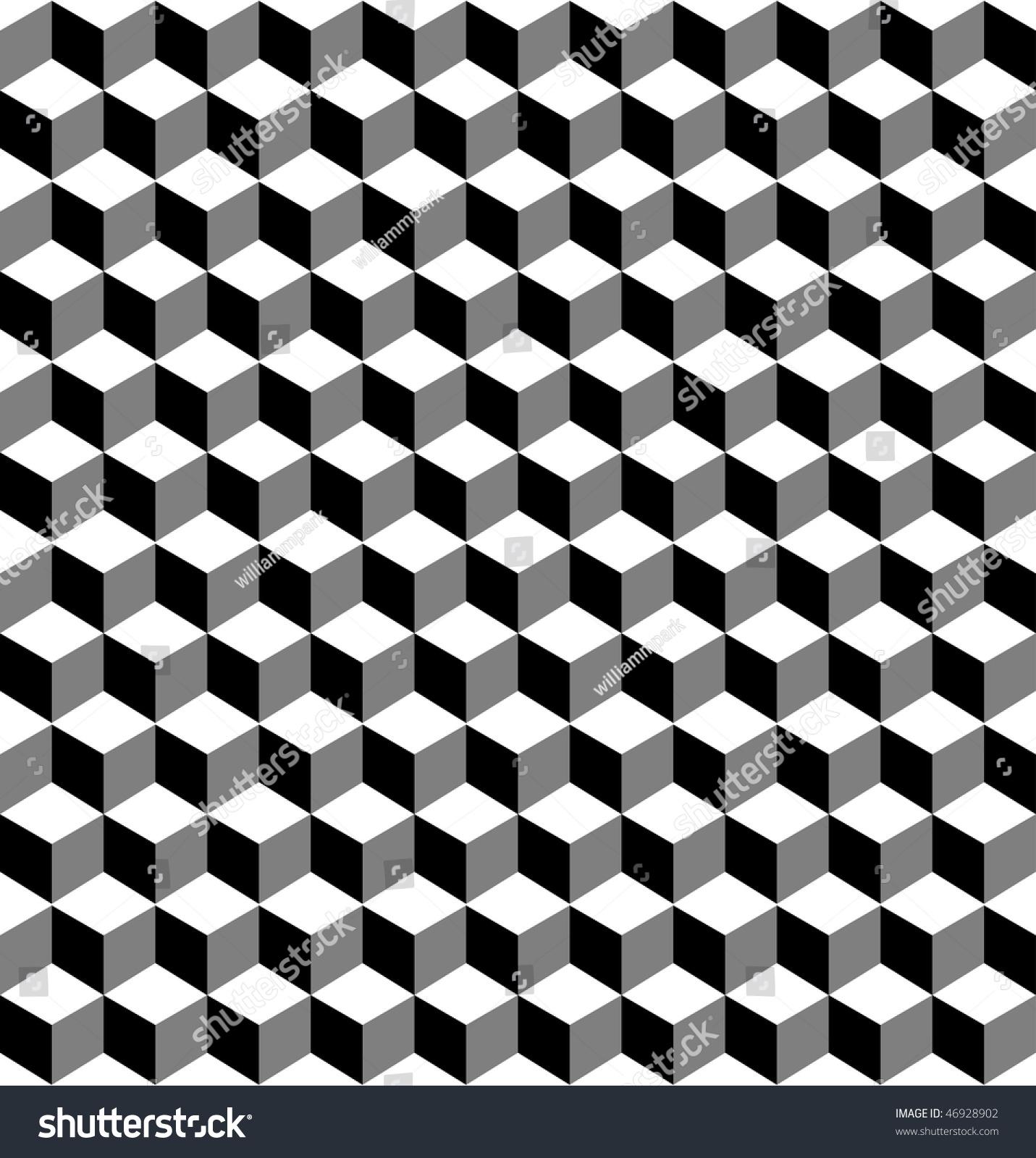Cube Pattern Stock Illustration 46928902 - Shutterstock