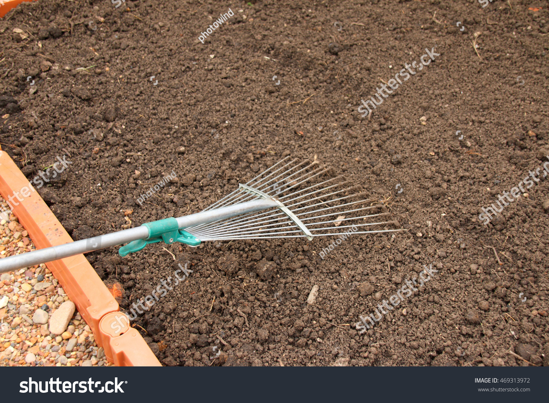 Soil Alignment Lawn Rake On Modern Stock Photo (Royalty Free ...