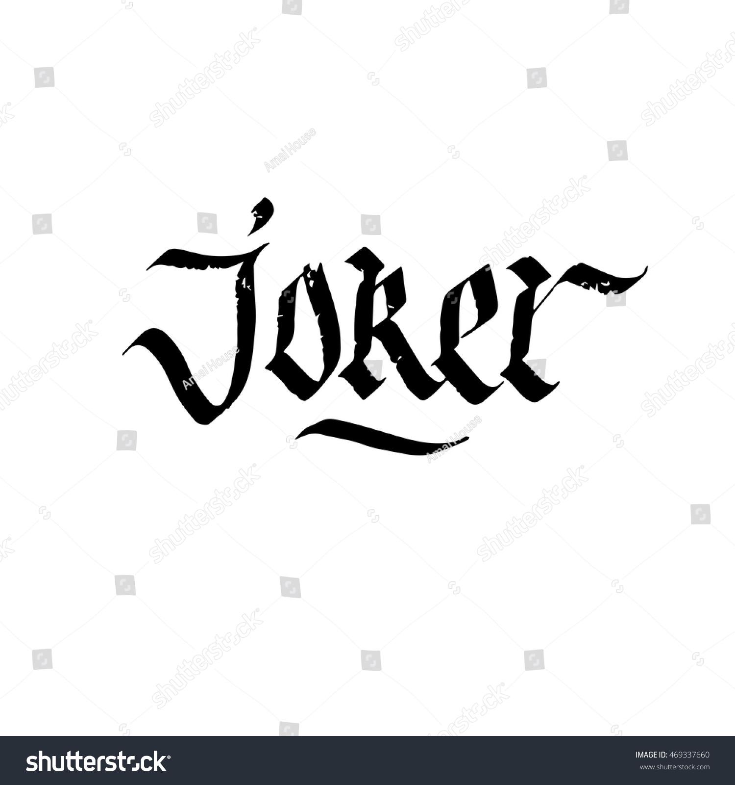 Joker Schriftzug