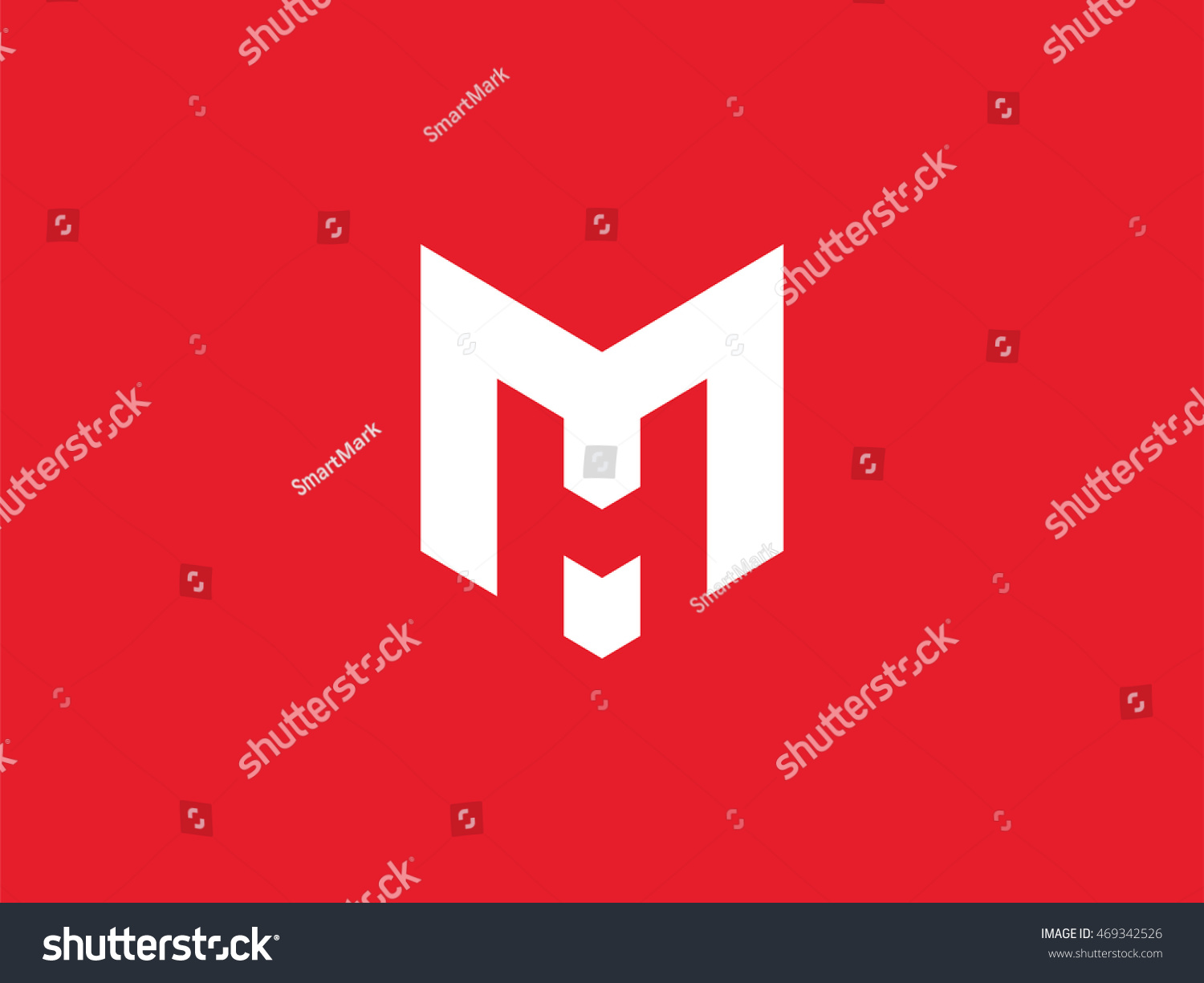 Stock Vector Mh Logo Design Smart Mark Of Letter And Modern Flat Style Graphic Element For Your Monogram