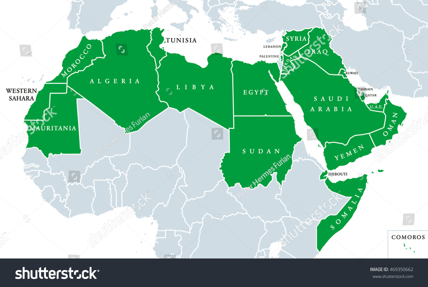 Arab world political map called arab vectores en stock 469350662 arab world political map also called arab nation consists of twenty two arabic gumiabroncs Gallery
