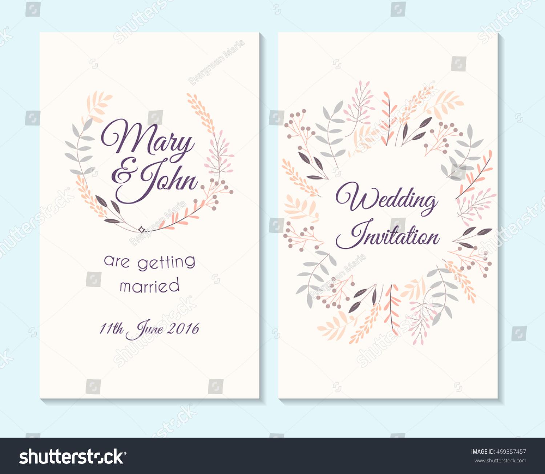 Wedding Invitation Thank You Card Save Vector 469357457 – Thank You Cards Wedding Template