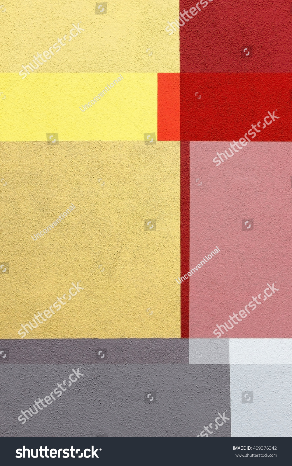 Refined Double Exposure Photo Stucco Wall Stock Photo (Edit