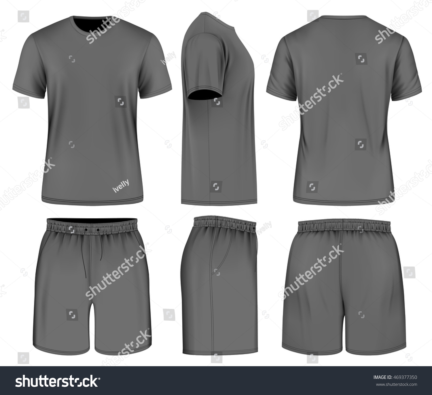 Mens Black Short Sleeve Tshirt Sport Stock Vector 469377350 ...