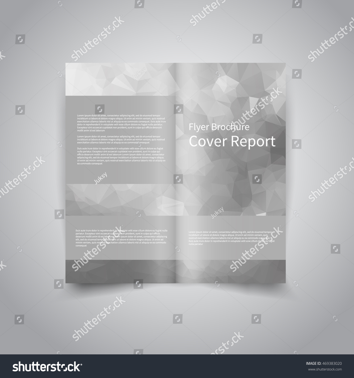 Vector twofold brochure design template abstract stock for Two fold brochure design