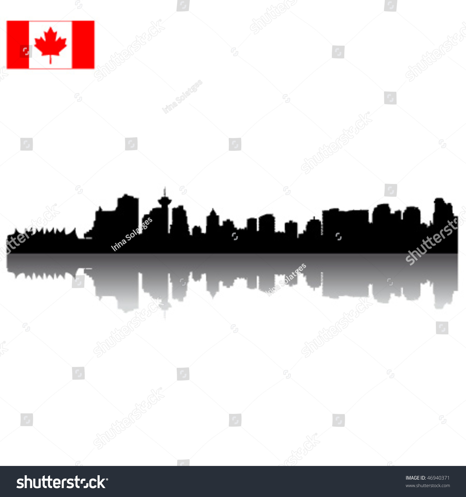 detailed black vector vancouver silhouette skyline stock vector