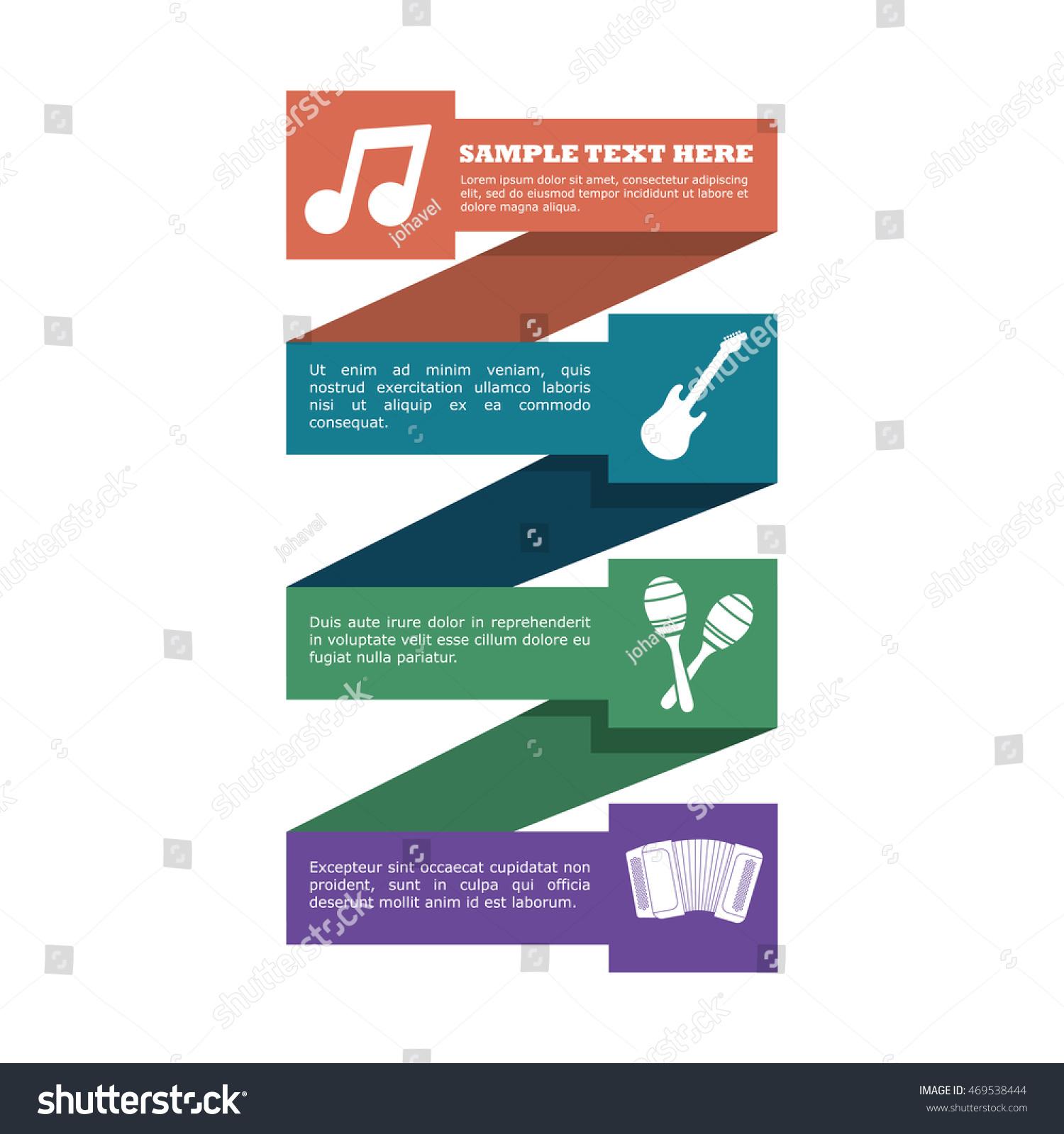 Guitar Maraca Accordion Infographic Music Sound Stock Vector ...