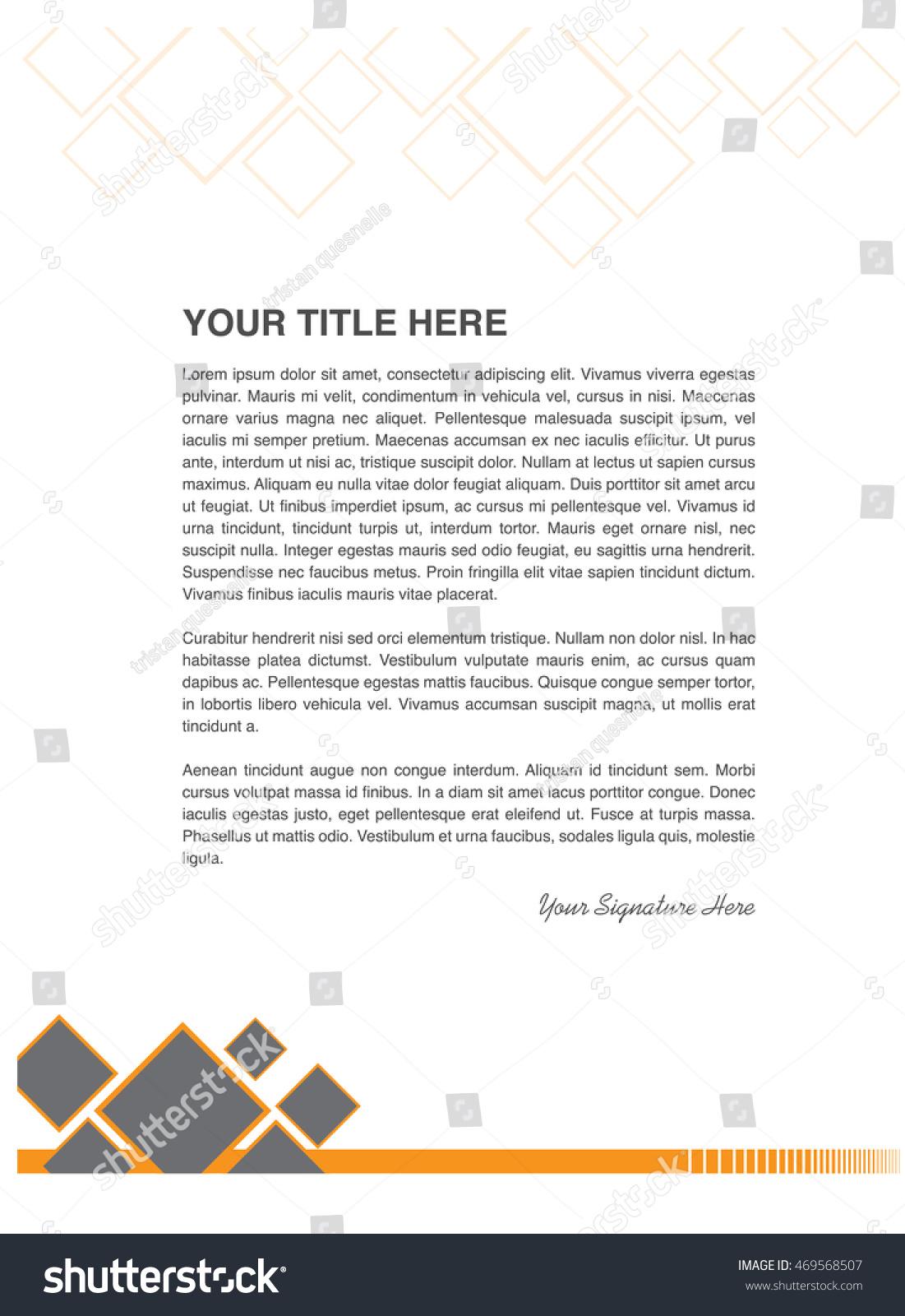 business letter pattern