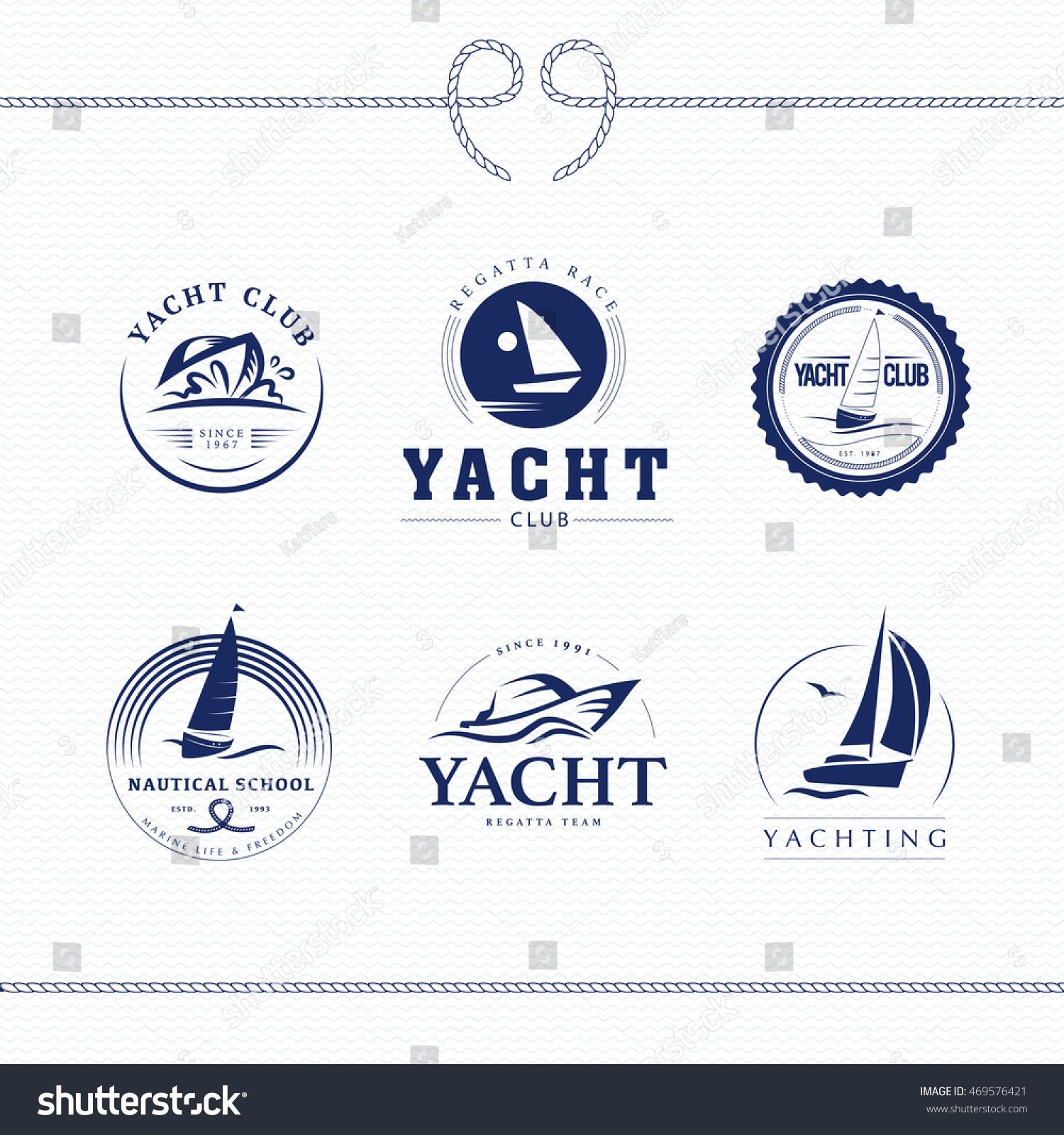 Flat yacht club regatta logo design stock illustration 469576421 flat yacht club regatta logo design set sailing boat ship icon silhouette toneelgroepblik Images
