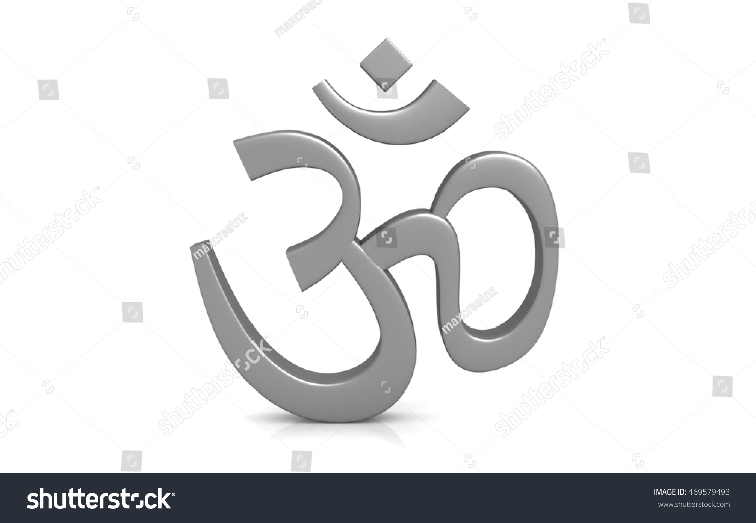 3d Rendered Hinduism Symbol Isolated On Stock Illustration