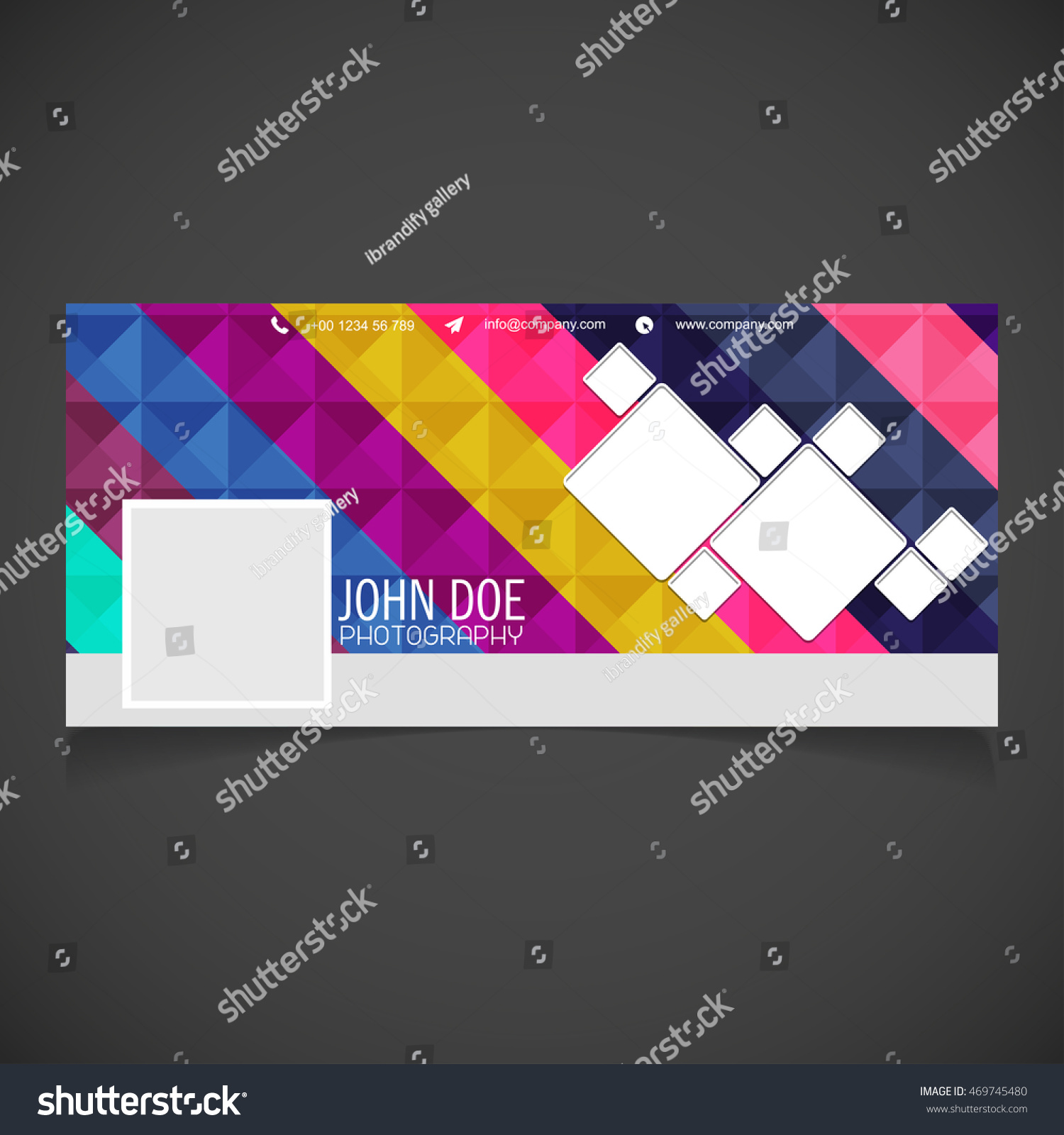 Creative Photography Banner Template Place Image Stock Vector