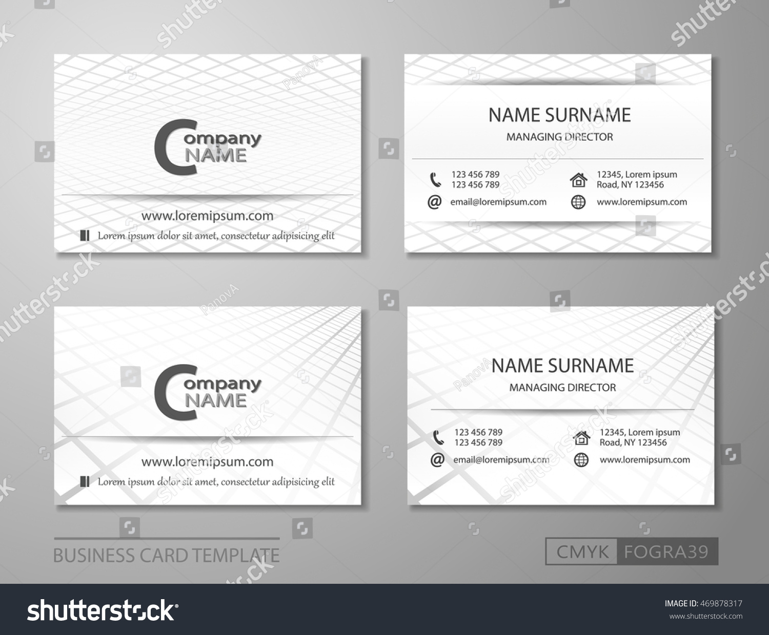Business card template vcard set businessman stock vector business card template vcard set for businessman or for personal use magicingreecefo Choice Image
