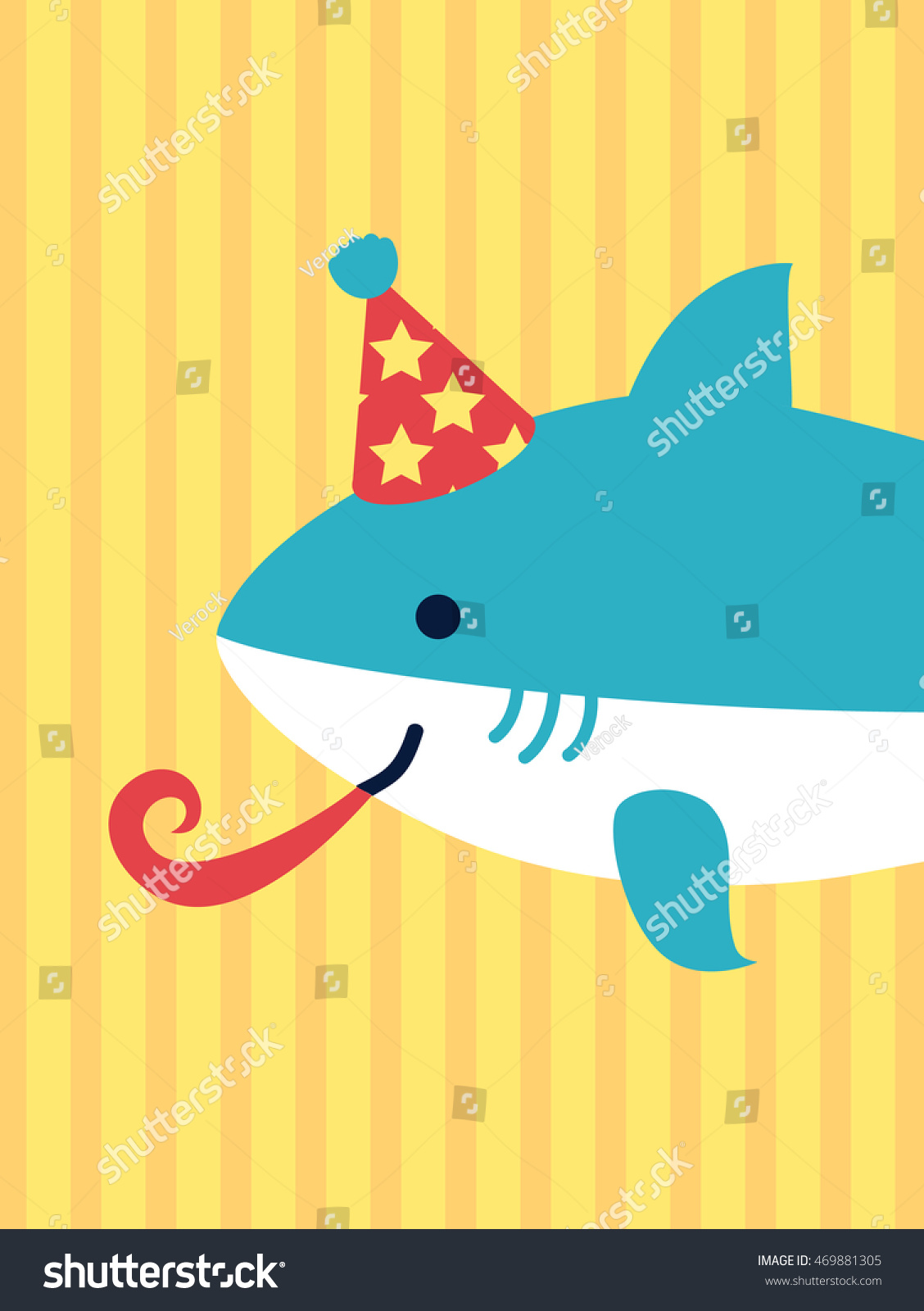 happy birthday card cute cartoon cheerful stock illustration, Birthday card