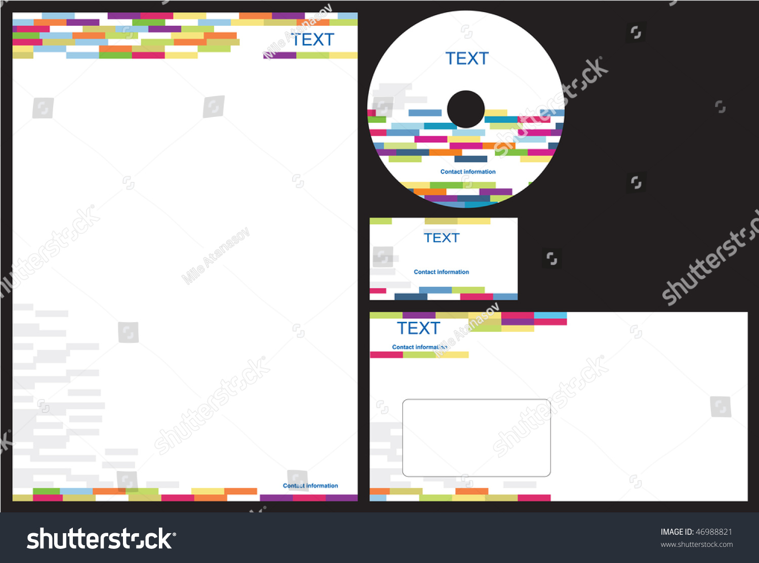 Business Package Business Card Letterhead Envelope Stock Photo ...
