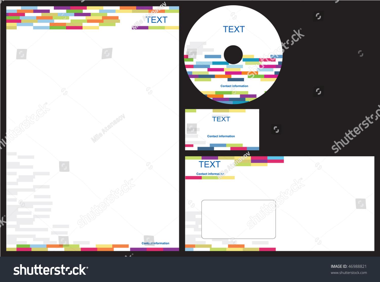 Business Package Business Card Letterhead Envelope Stock Vector ...