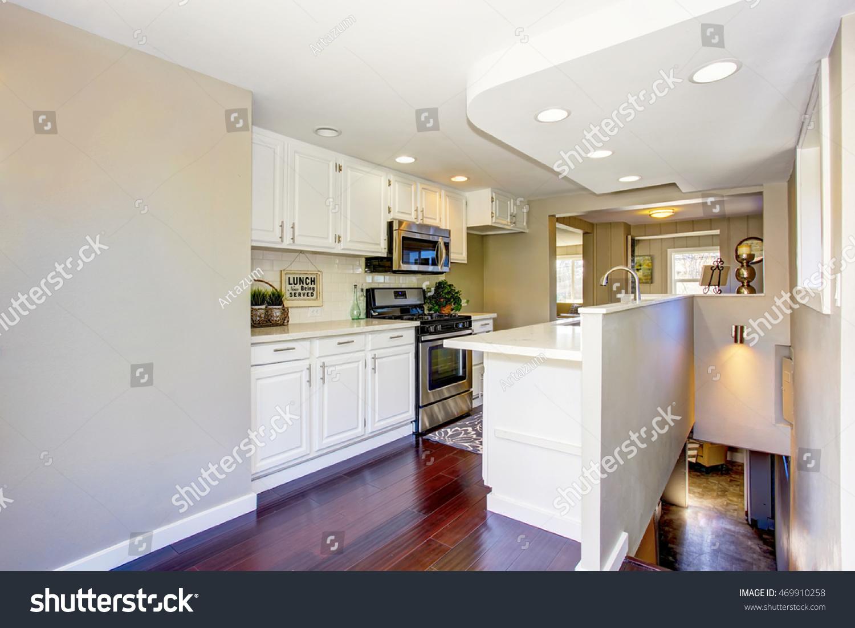 Classic American Kitchen Room Interior White Stock Photo (Download ...