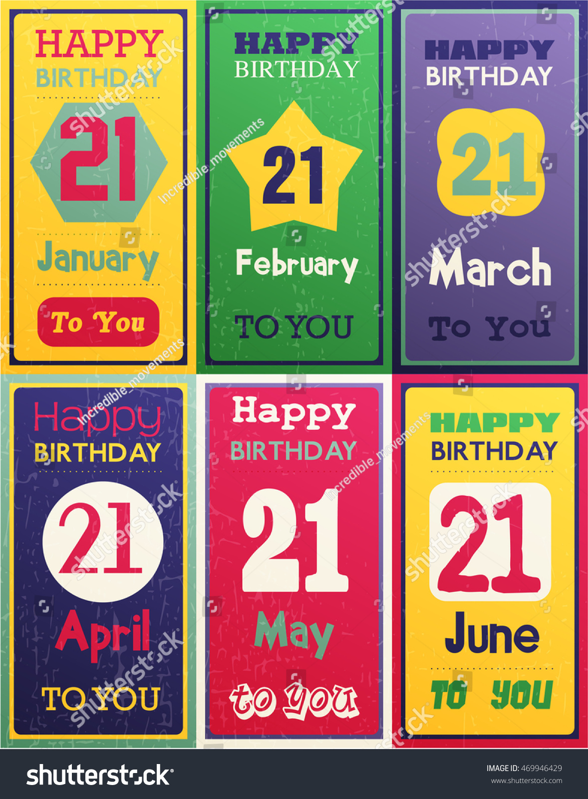 Greeting Happy Birthday Card Date Twenty Stock Vector Royalty Free
