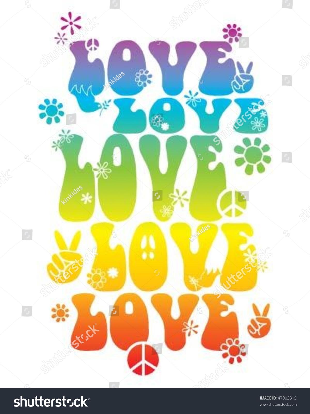 Shirt design style - Love Hippie Style T Shirt Design