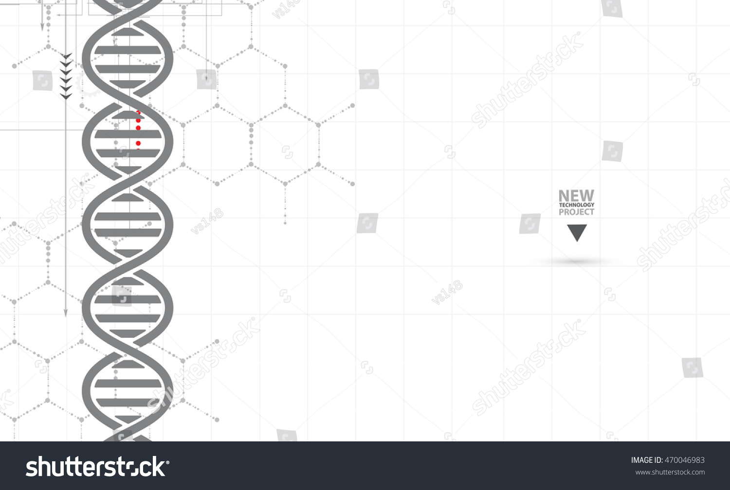 dna and medical and technology background futuristic molecule structure presentation for business solution