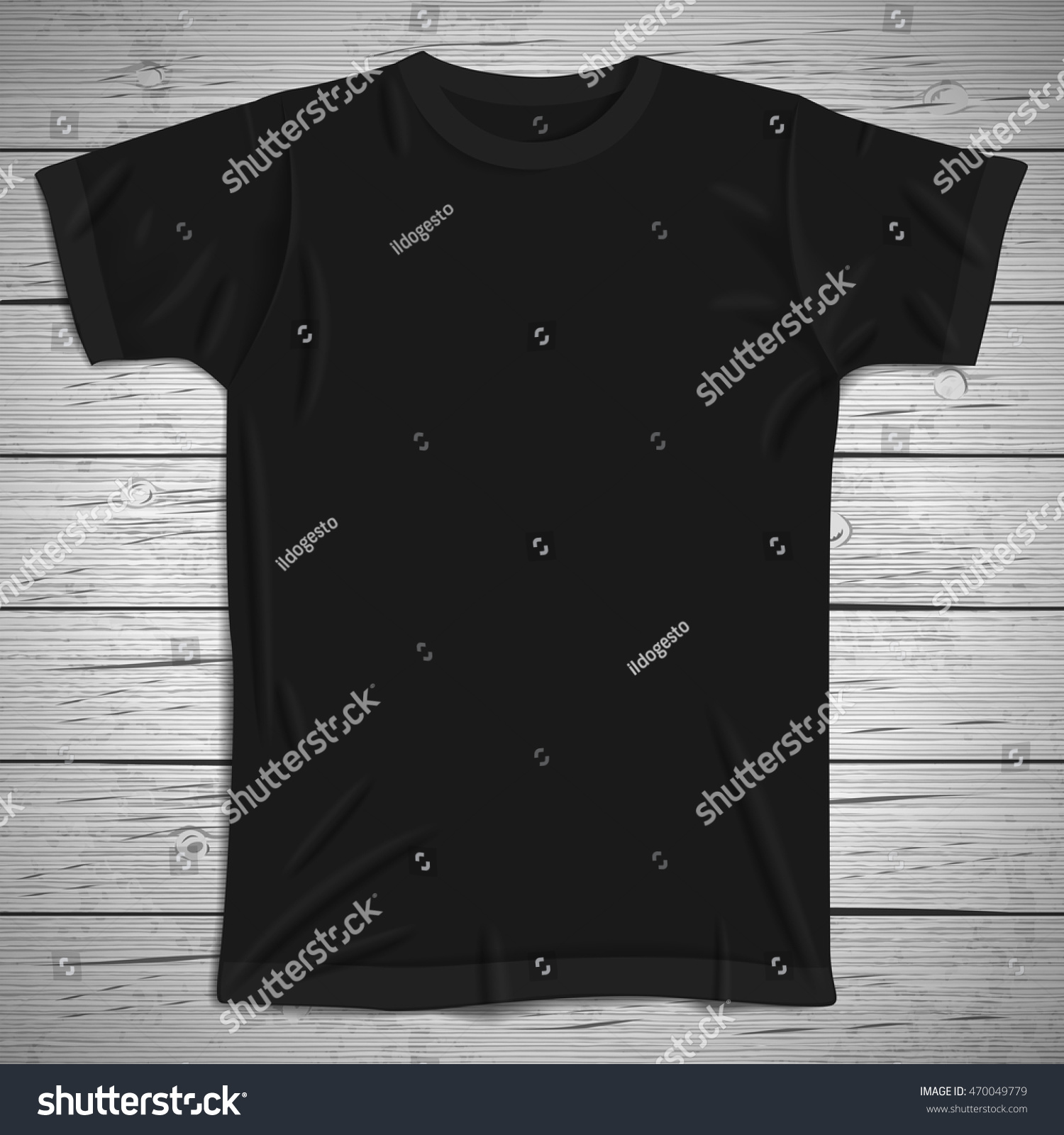 Black t shirt vector photoshop - Vintage Background With Blank T Shirt Vector Illustration