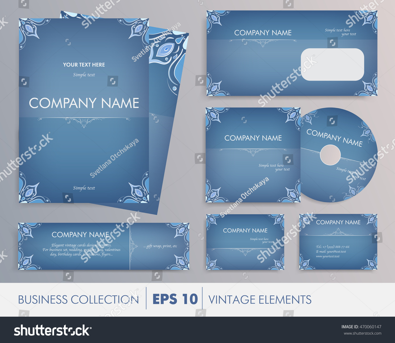 Vector Elegant Vintage Corporate Design Artworks Stock Vector ...