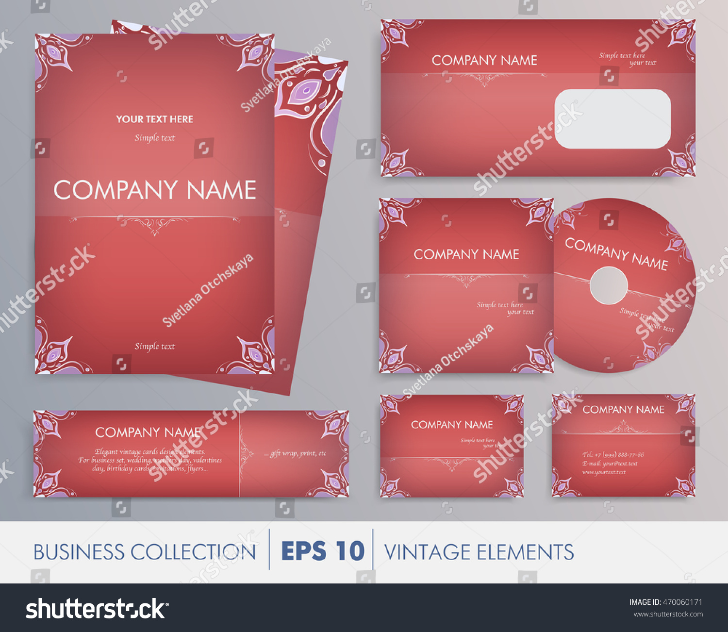 Vector Elegant Vintage Corporate Design Artworks Stock Vector HD ...