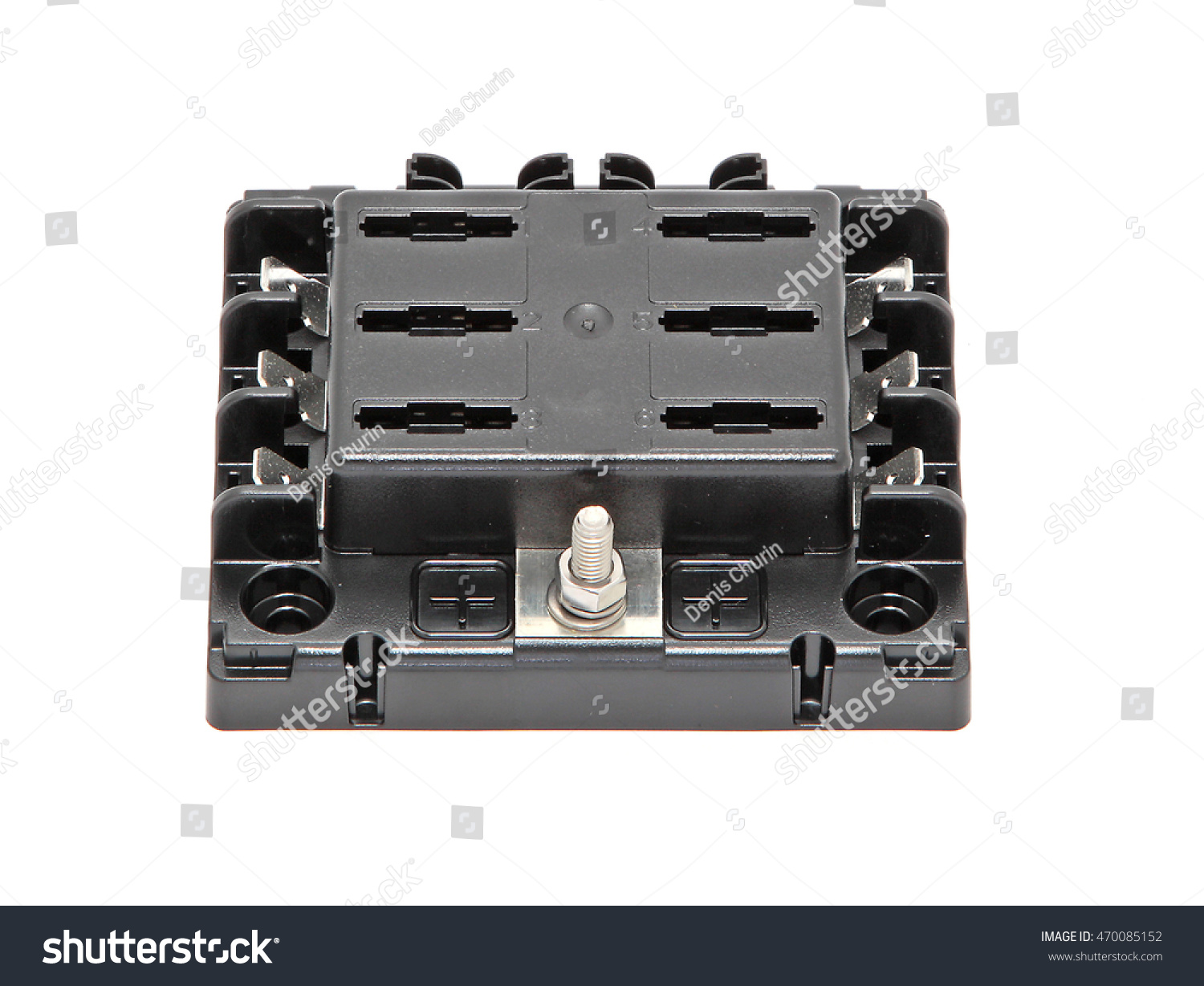 Metal Fuse Box Wiring Library Black Plastic Waterproof Marine With Contacts And Without Cap Front Upper View