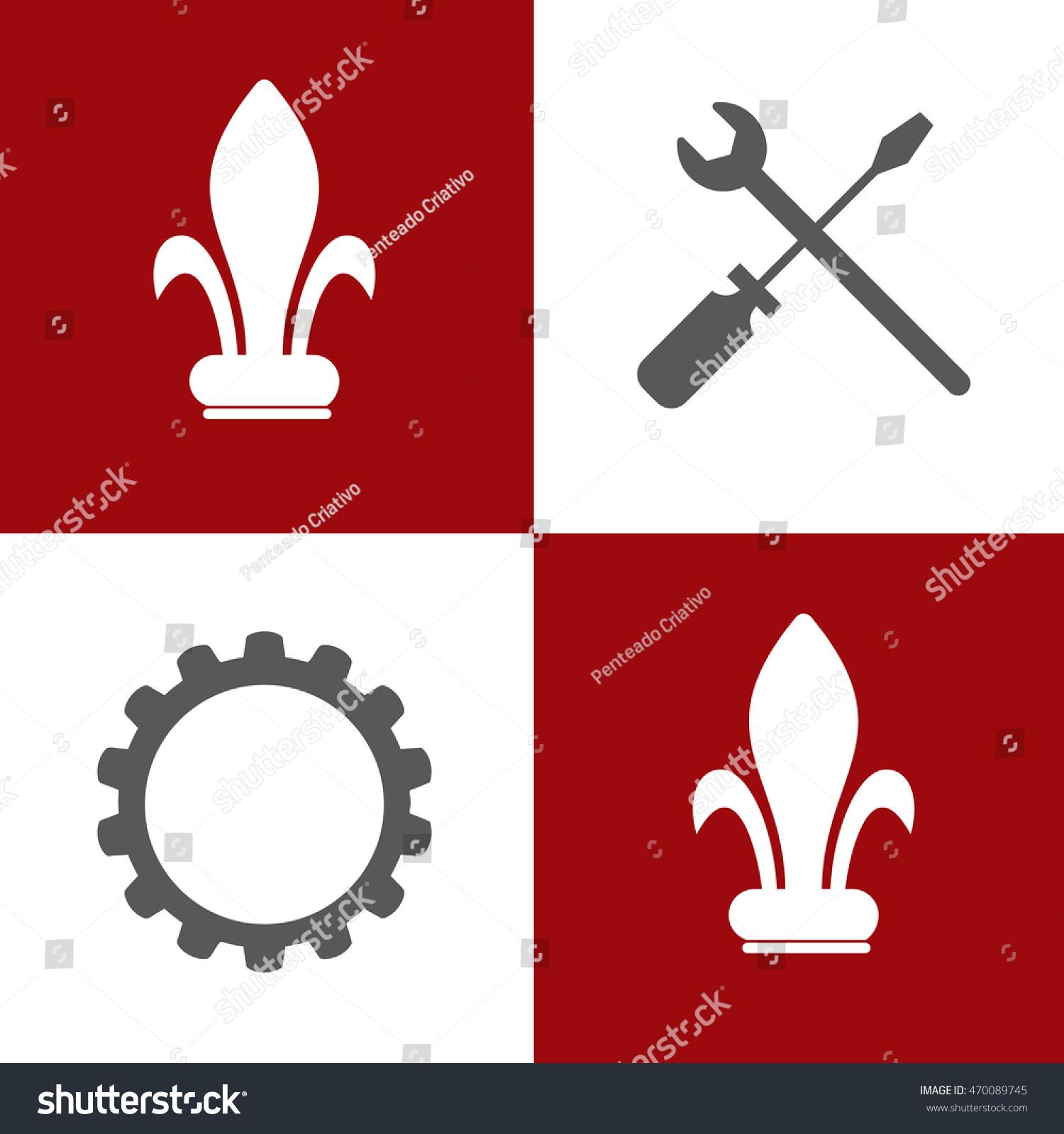 auto repair shop symbol vector illustration stock vector royalty rh shutterstock com auto repair shop logo vector free download Auto Repair Shop Signs