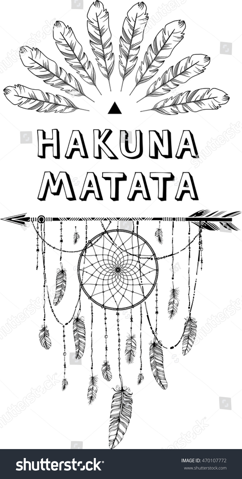 Hakuna Matata Swahili Phrase Means No Stock Vector Royalty Free