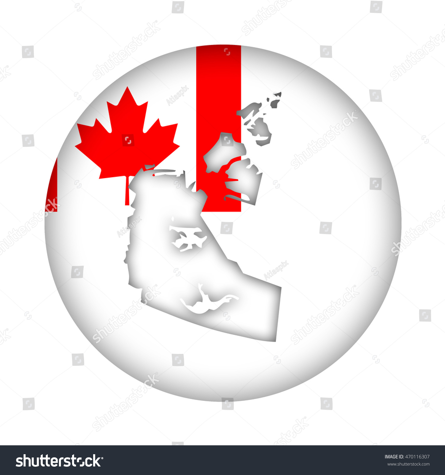 Canada state northwest territories map flag stock illustration canada state of northwest territories map flag button isolated on a white background biocorpaavc Choice Image