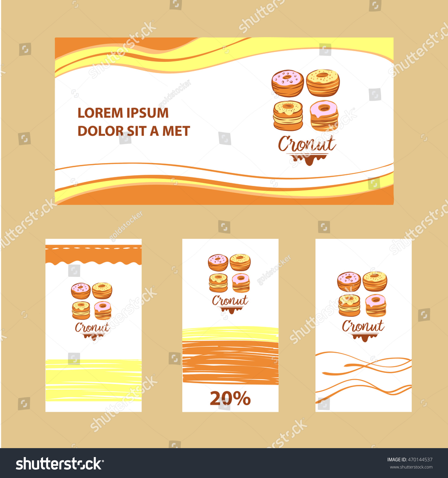 Illustration Corporate Identity Banner Business Card Stock Vector