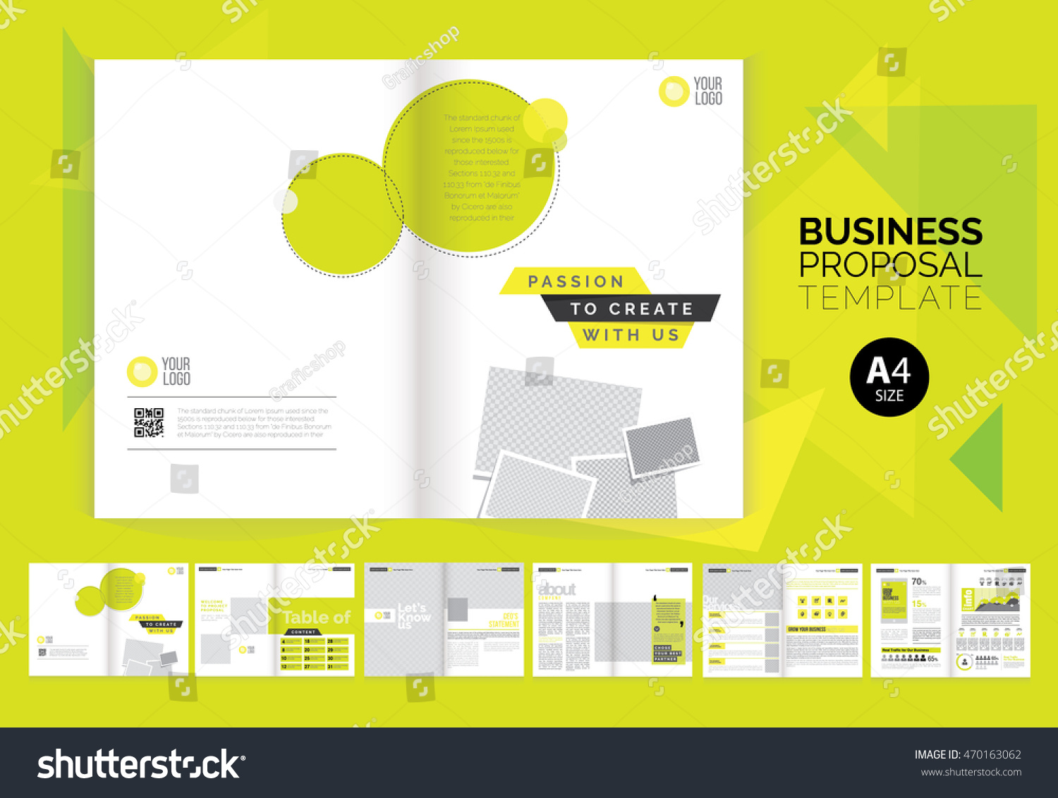 business proposal brochure layout template a 4 stock vector royalty