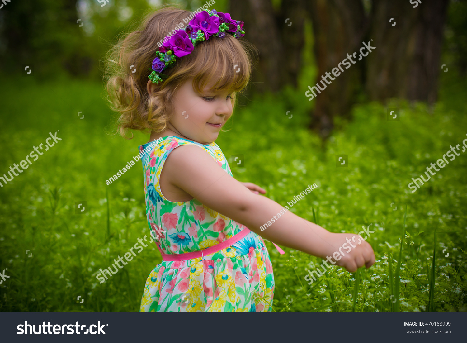 cute adorable baby girl nice flower stock photo (edit now) 470168999