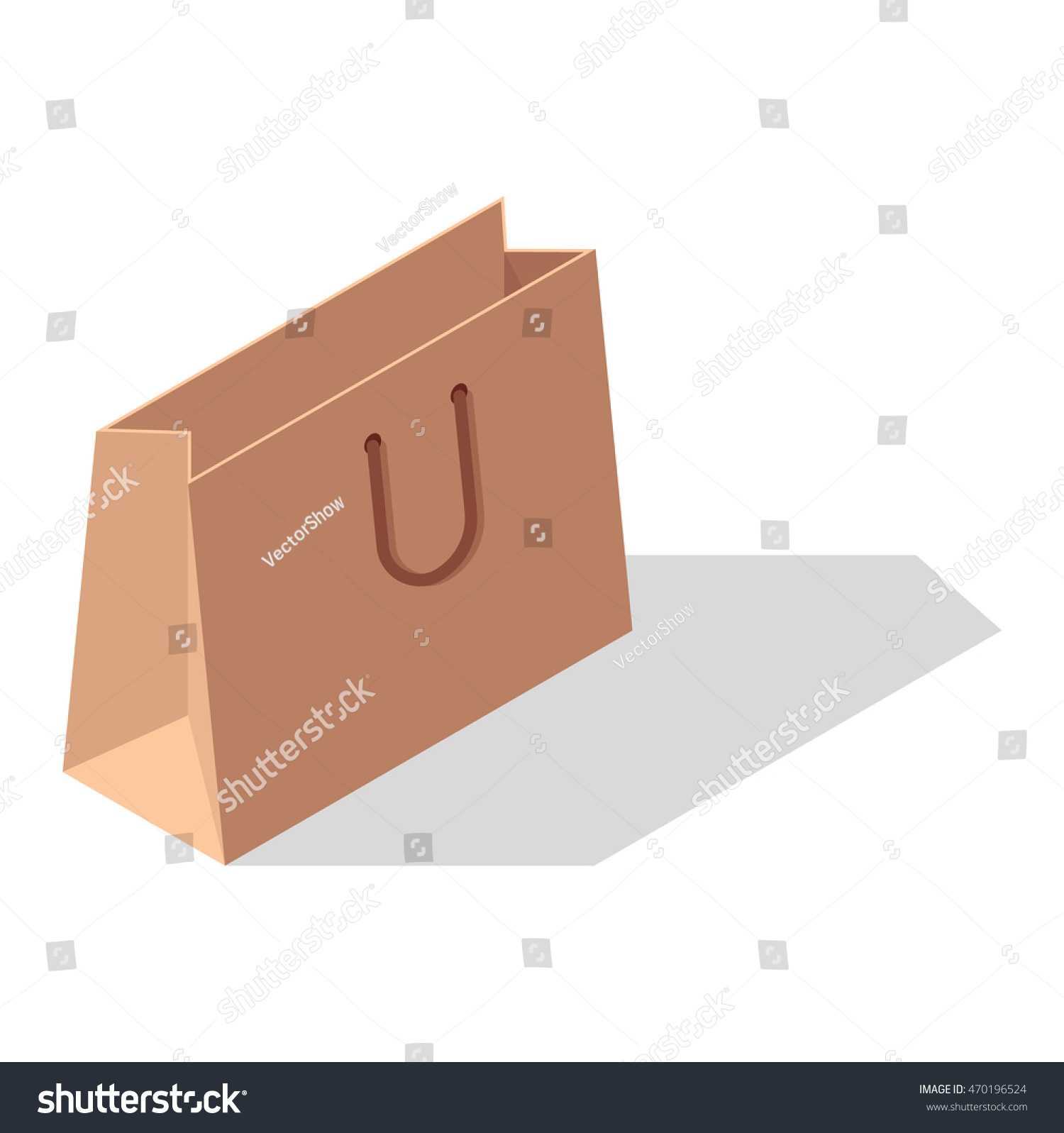 ... Vectors  Illustrations  Editorial  Footage  Music. Paper shopping bags  isolated on white background, Shopping bag pack fashion store empty market  and 82eb0c7f0c