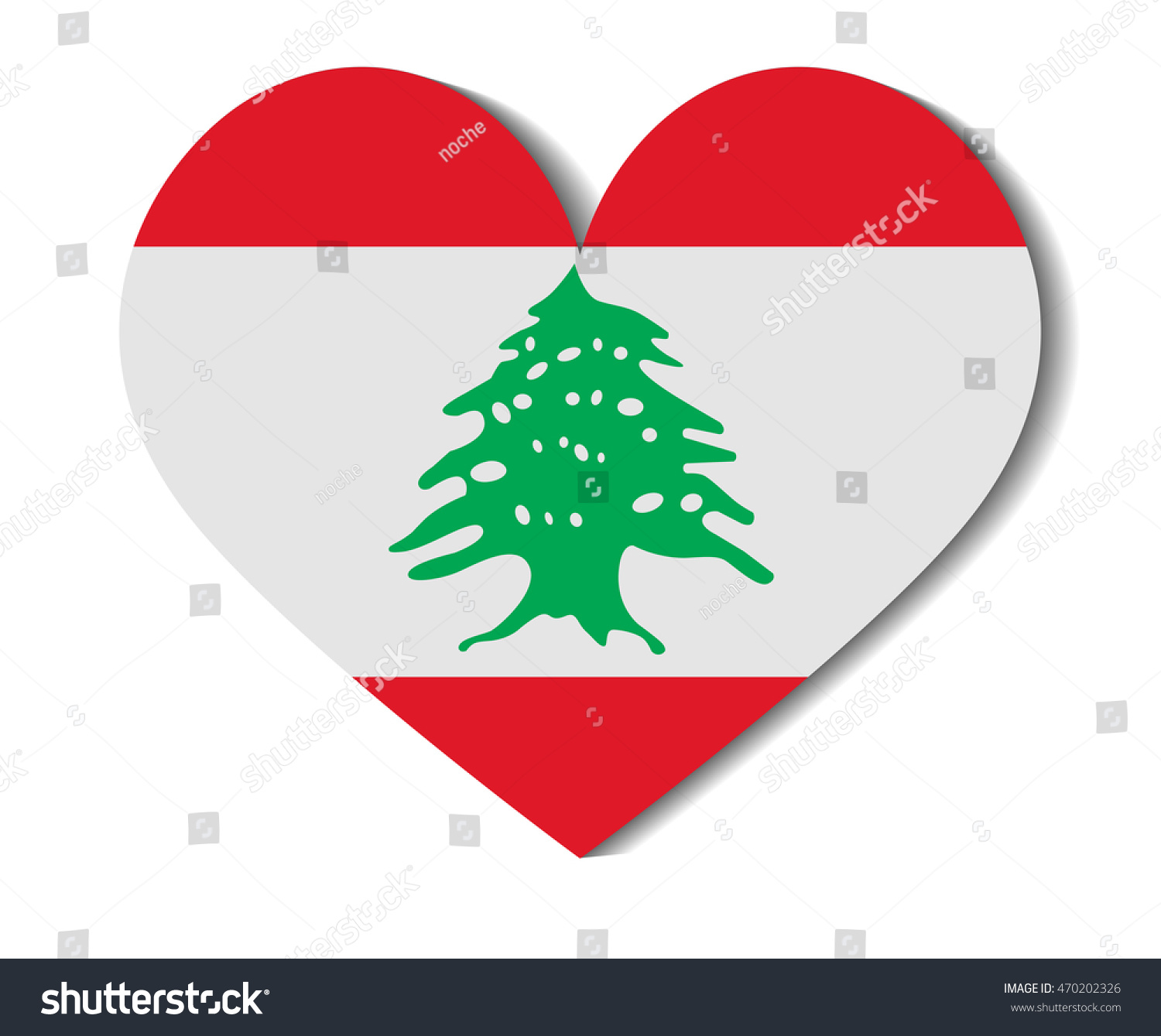 heart flag lebanon stock vector 470202326 shutterstock