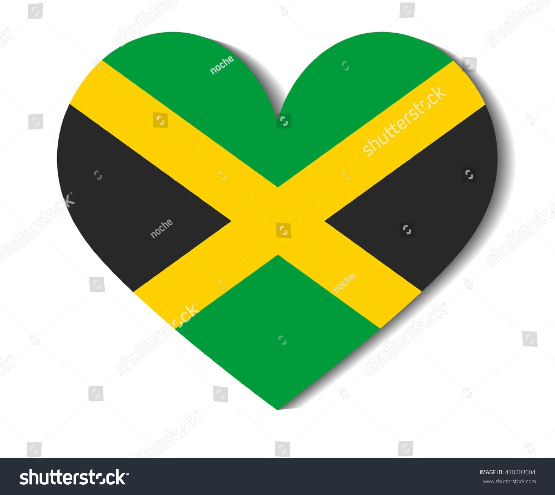 Heart flag jamaica