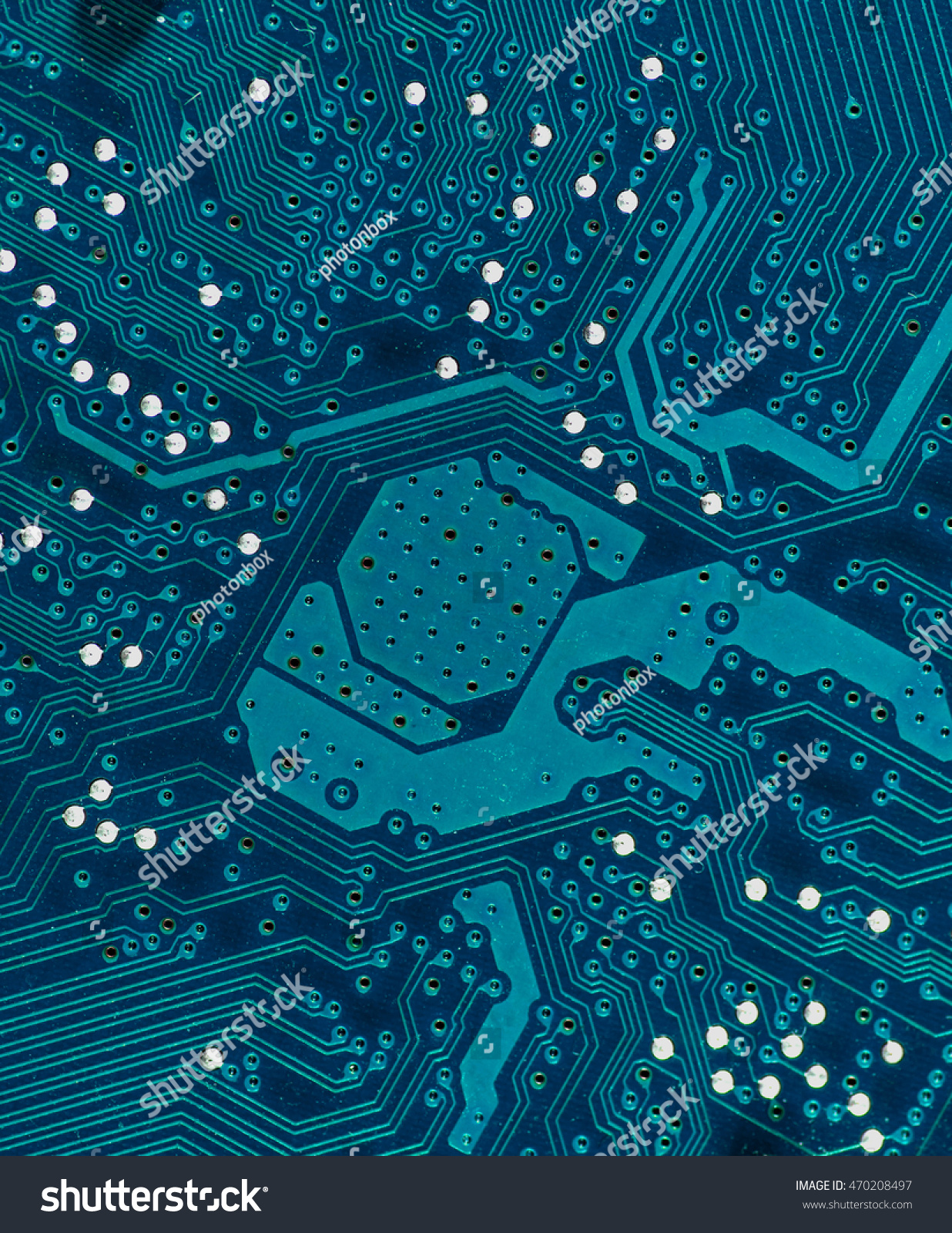 Blue Turquoise Pcb Board Integrated Circuit Stock Photo Edit Now Circuits Used As Background Royalty Free Photos Close Up Technology Highly Detailed
