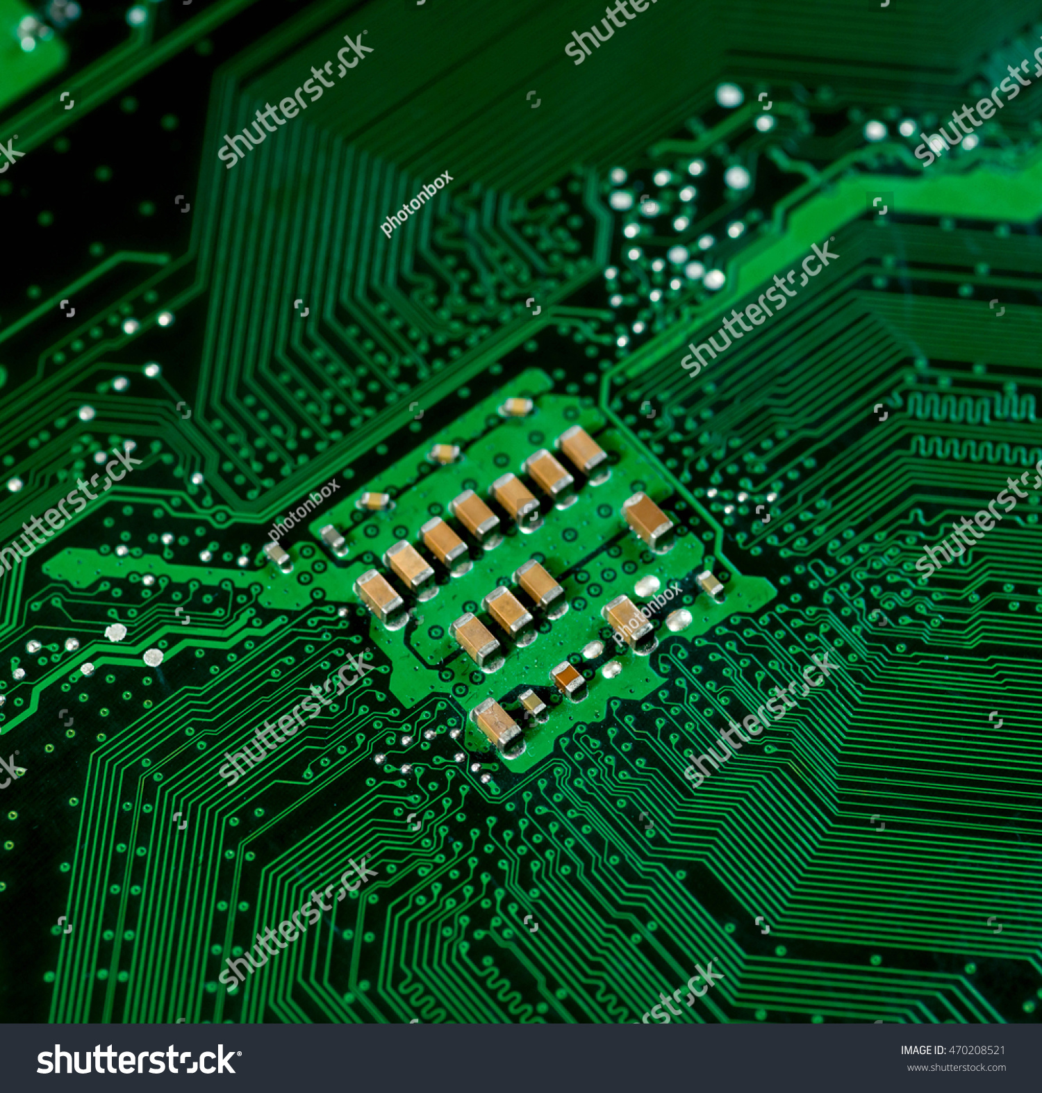 Green Pcb Board Integrated Circuit Close Stock Photo Edit Now Photos Circuits Computers Components Technology Image Up Background Highly Detailed