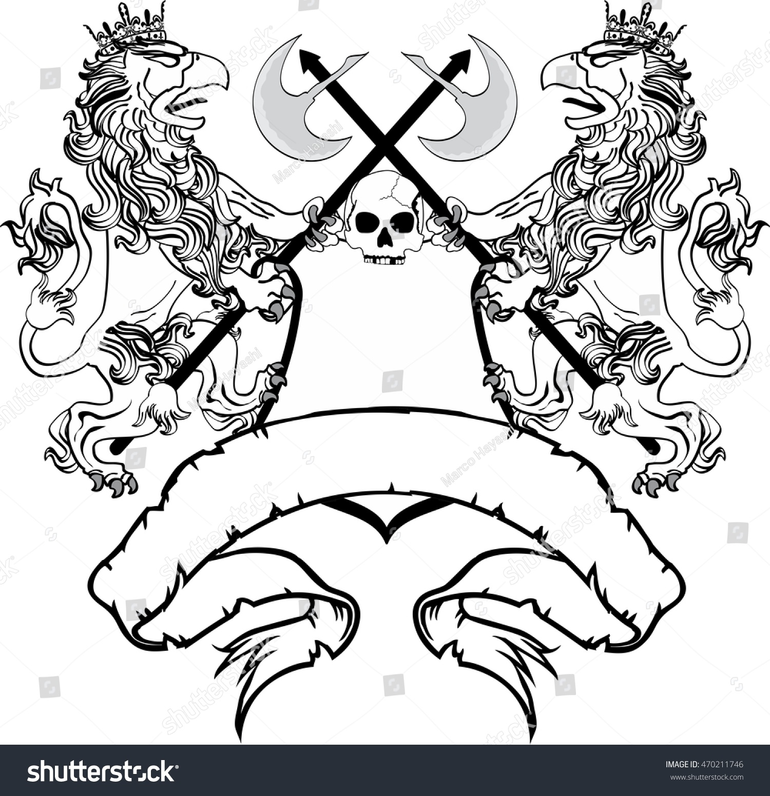 How to breed heraldic dragon - Heraldic Griffin Crest Coat Of Arms Tattoo Very Easy To Edit