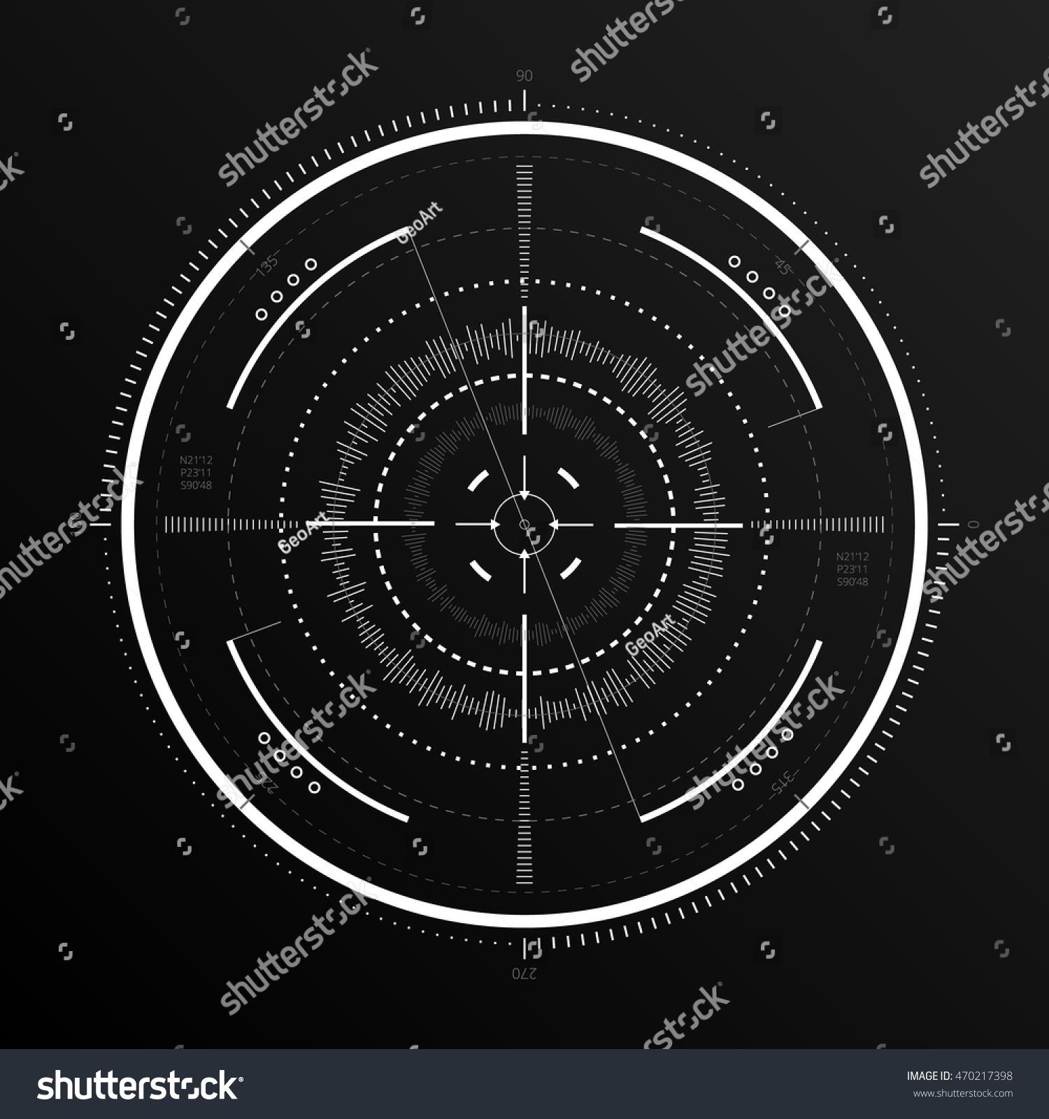 scifi futuristic spaceship crosshair hud user stock vector
