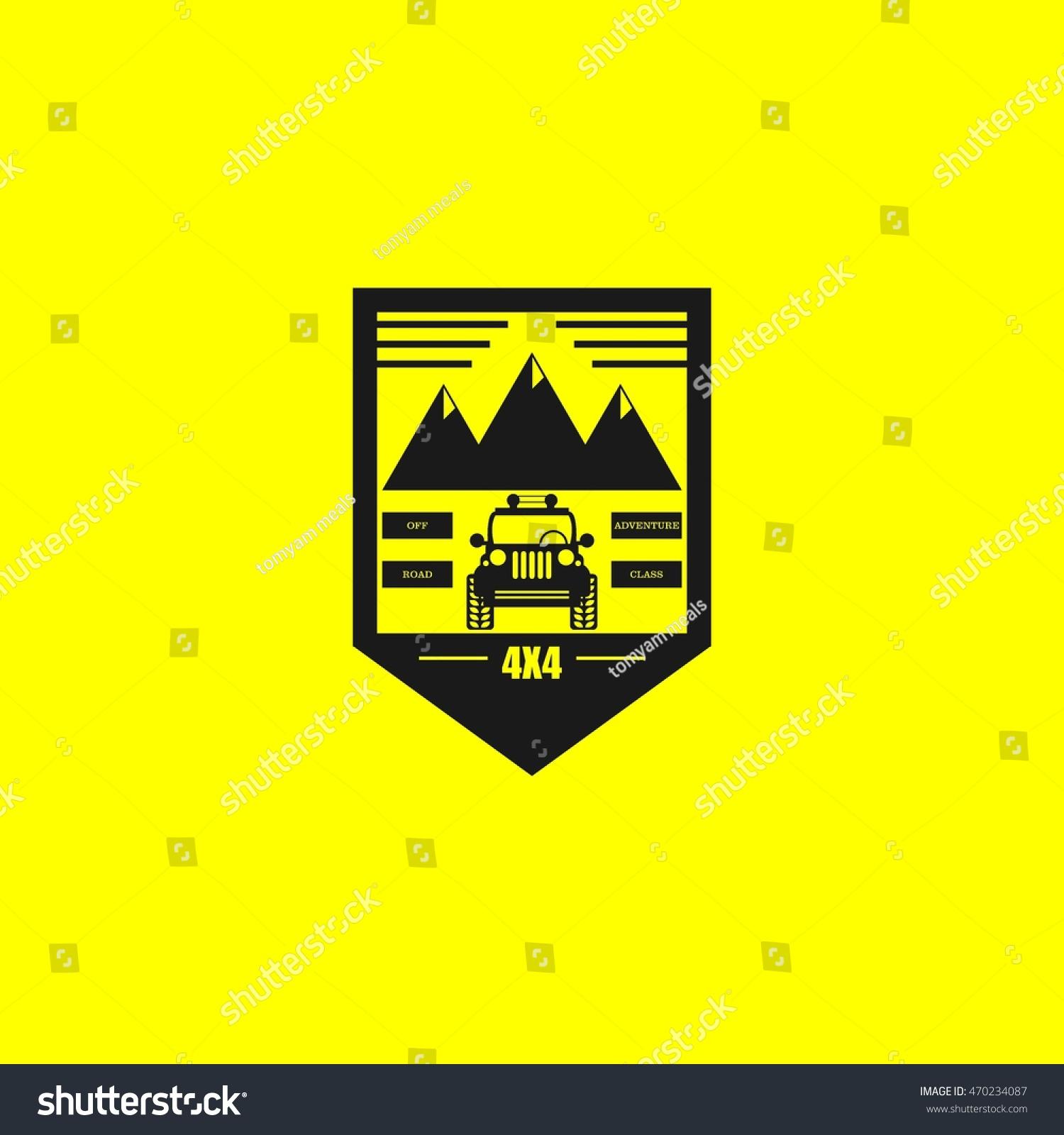 Off Road Car Logo Emblems Badges Stock Vector (Royalty Free