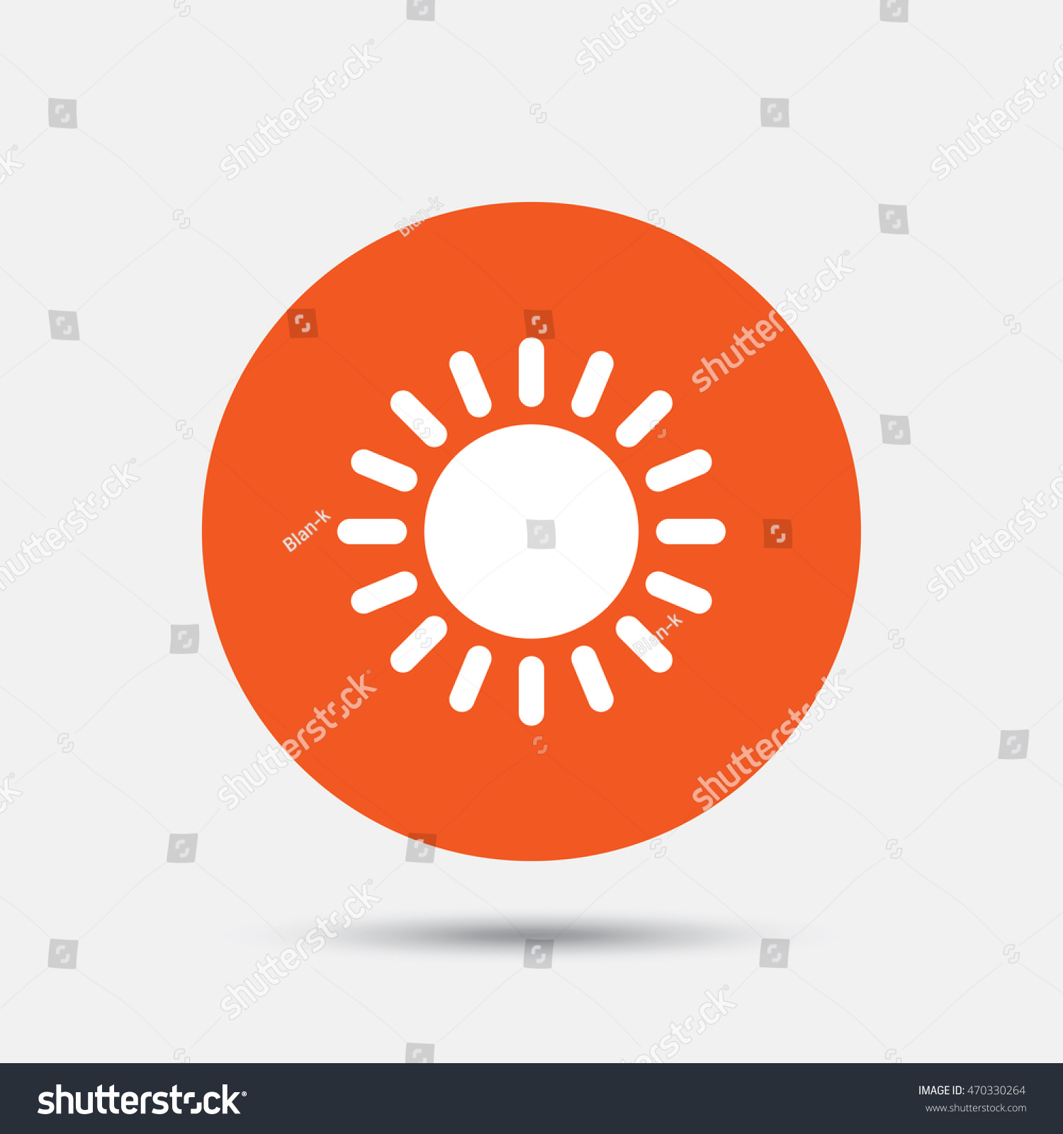 Sun Icon Sunlight Summer Symbol Hot Stock Vector 470330264
