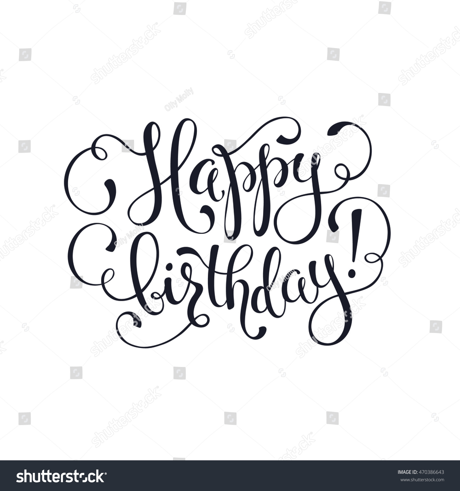 happy birthday greeting card template hand stock vector royalty