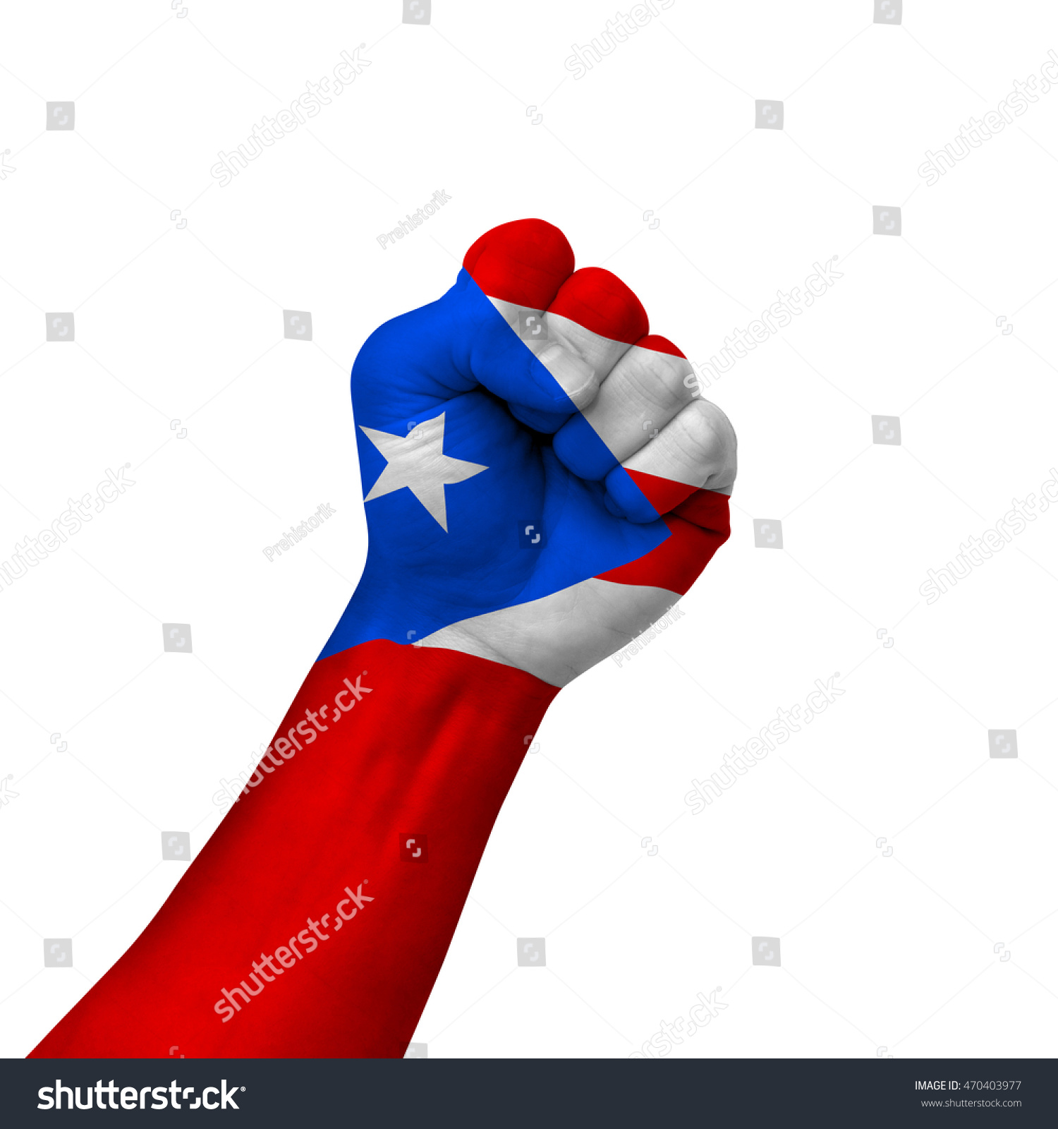 Hand making victory sign puerto rico stock photo 470403977 hand making victory sign puerto rico painted with flag as symbol of victory resistance biocorpaavc Choice Image
