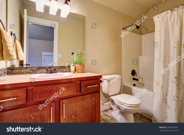 Bathroom Interior White Bath Tub Tile Stock Photo (Edit Now ...