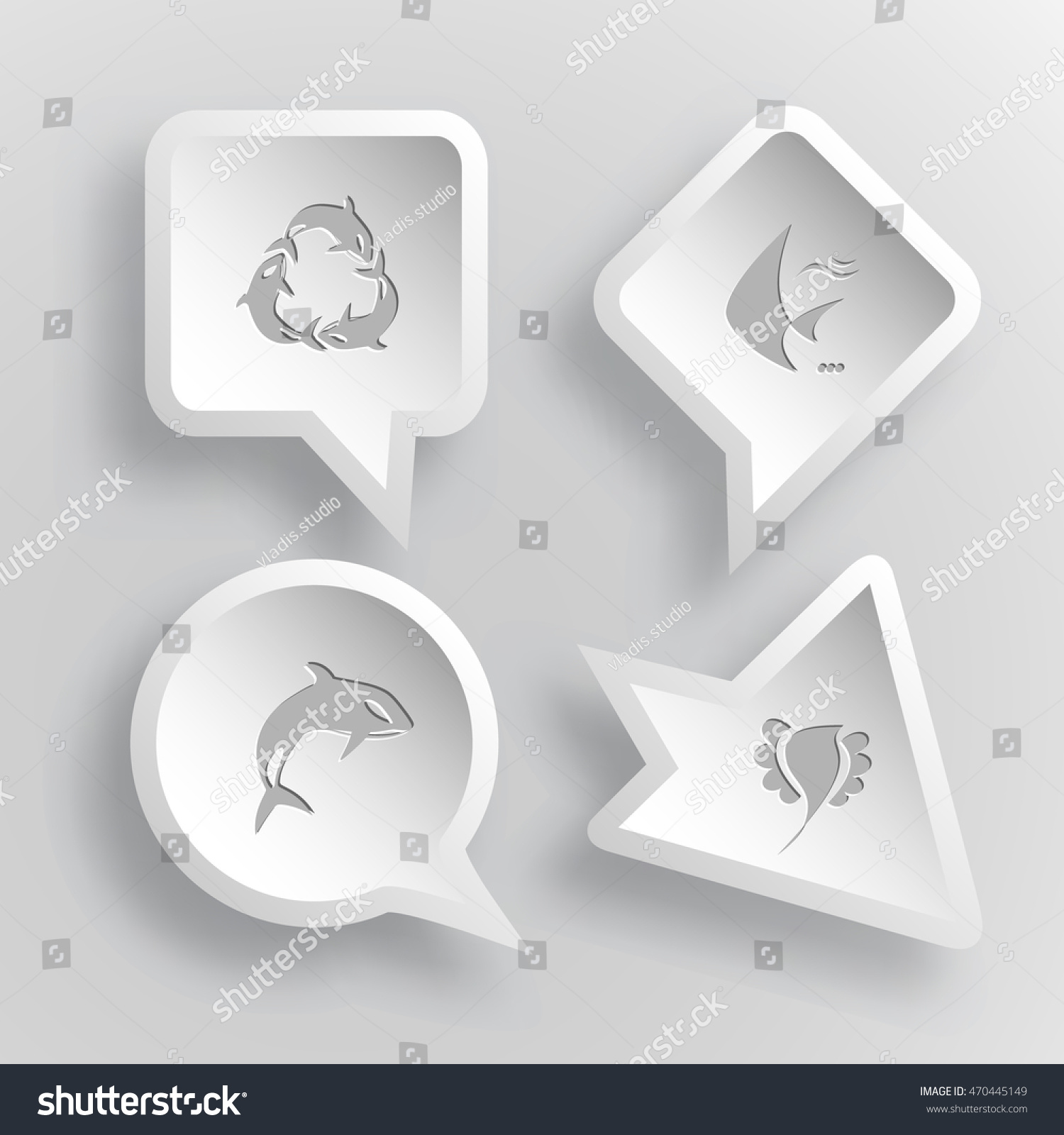 4 images killer whale recycling symbol stock vector 470445149 4 images killer whale as recycling symbol fish bird animal set biocorpaavc Choice Image