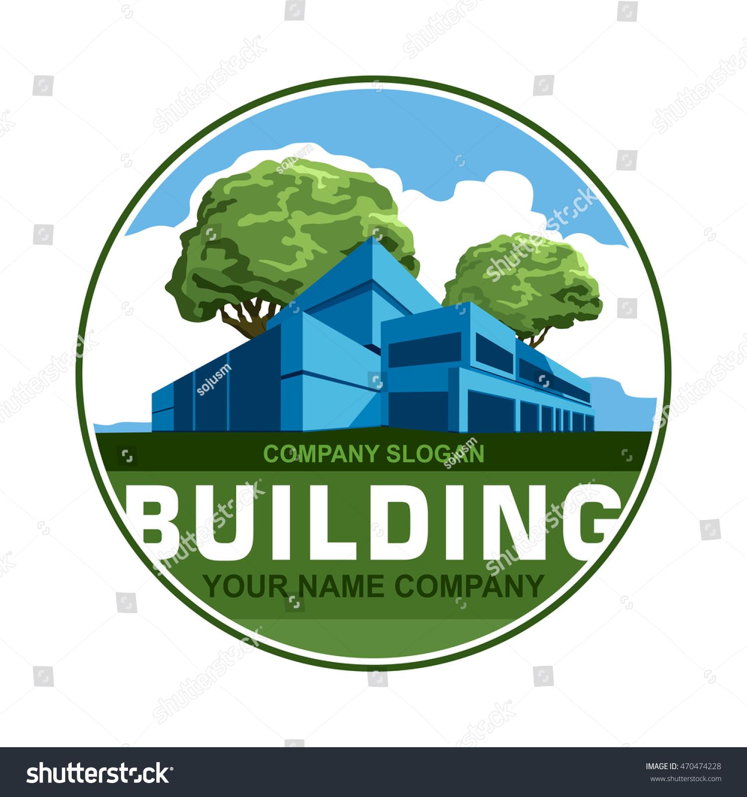 Building Logo Construction Company Logo Design Stock Vector